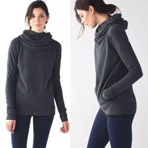 Lululemon Stress Less Hoodie Sweatshirt Dark Gray